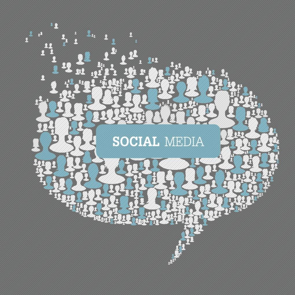 Social Media Bubble Speech Concept Vector Eps10